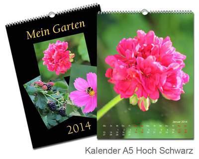 Kalender 15x20 Metallic Schwarz Echtfoto
