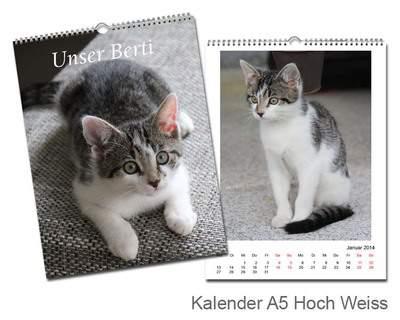 Kalender 15x20 Glanz Weiß Echtfoto