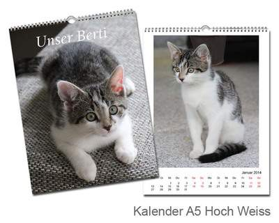 Kalender 15x20 Metallic Weiß Echtfoto