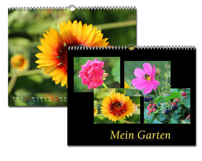 Kalender 20x15 Metallic Schwarz Echtfoto