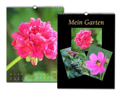 Kalender 20x30 Metallic Schwarz Echtfoto