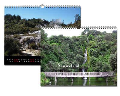 Kalender 40x30 Glanz Schwarz Echtfoto