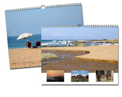 Kalender 40x30 Glanz Weiß Echtfoto
