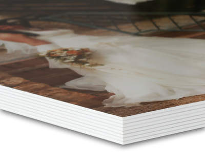 8K Studiobuch 20x20 Metallic/Weis 28 Seiten Schmuckcover Block