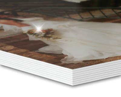 8K Studiobuch A4 quer Glanz/Weiß 16 Seiten (wattiert)