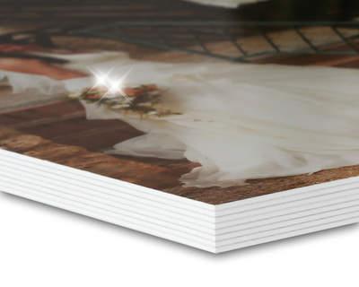 8K Studiobuch 27x27 Metallic/Weiß 40 Seiten (wattiert)