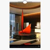 Dauerkalender A2 Hoch Schwarz