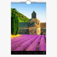 Kalender A2 Hoch Schwarz