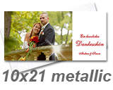 Grußkarte Echtfoto DIN lang Metallic